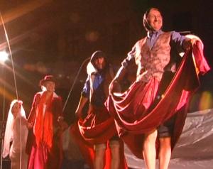 Theaterszene Tanz bei einer Hochzeit