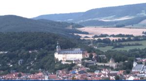 Ansicht von Rudolstadt mit Heidecksburg
