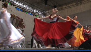 Das Thüringer Folkloretanzensemble eröffnet traditionell das Festival