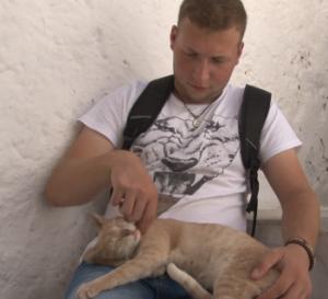 Kretische Katzen freuen sich über Streicheleinheiten