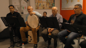 Probe der Musiker
