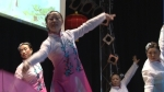 Tänzerinnen beim chinesischen Frühlingsfest